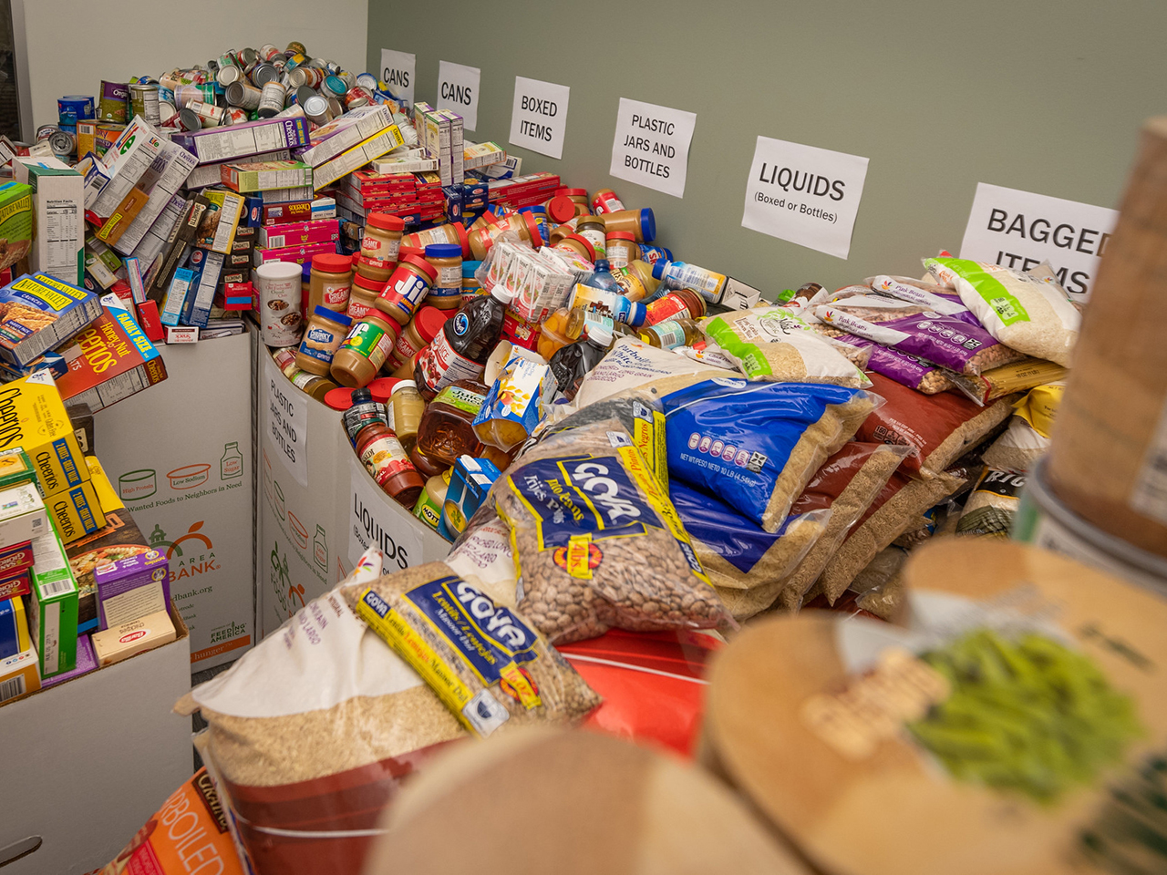 Image of collected food donations