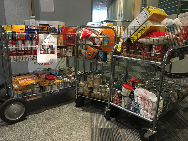 Image of food collection from OGC staff