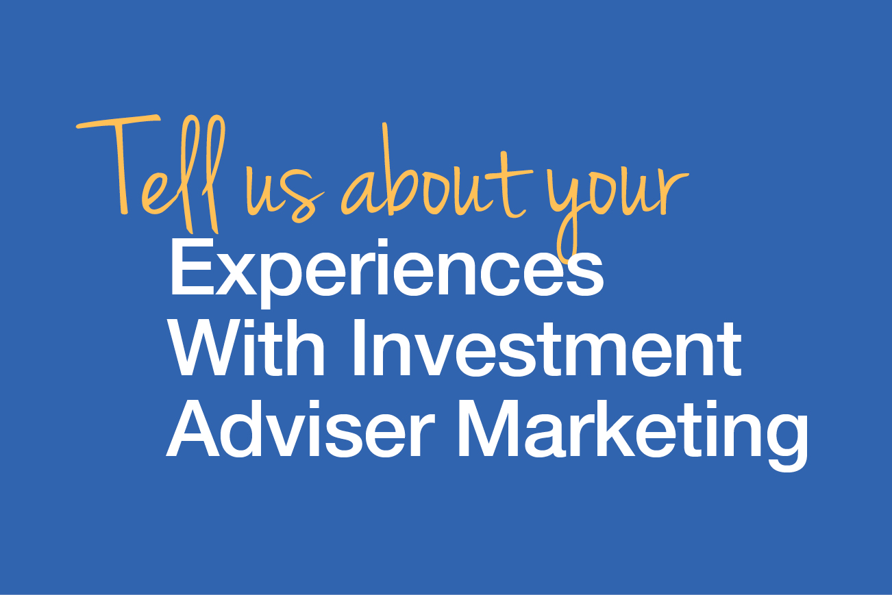 Investment Adviser Marketing button