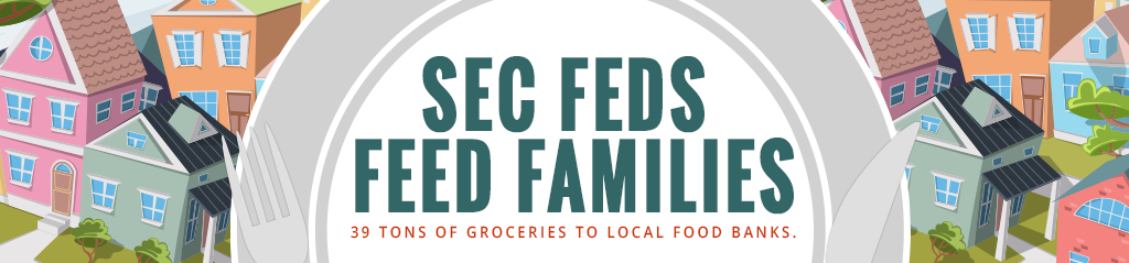 SEC Feds Feed Families - 39 Tons of Groceries to Local Food Banks