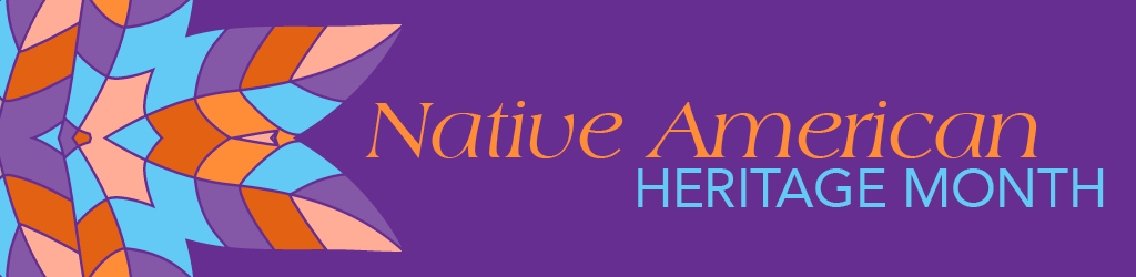 Native American Heritage Month decorative web banner