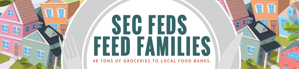 SEC Feds Feed Families - 48 Tons of Groceries to Local Food Banks
