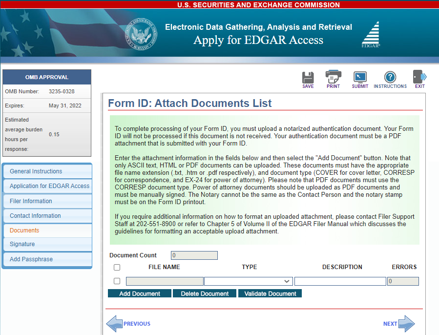 Attach documents screenshot