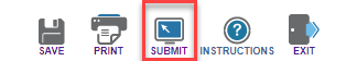 Screenshot depicting location of Submit button