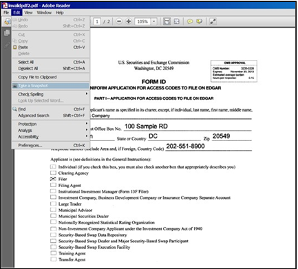 Screenshot depicting the Take a snapshot option under the Edit drop-down located in the left hand corner of the screen