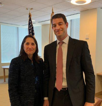 Stacey Friedman (left), General Counsel, J.P. Morgan & Chase Co., joined Marc P. Berger, Director, SEC New York Regional Office, for a LGBT Pride Month celebration and discussion on June 27, 2019.