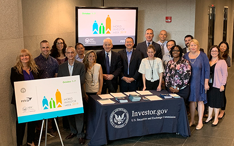 Staff at SEC's Washington, DC headquarters celebrated the kickoff to World Investor Week.