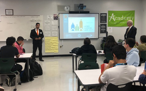 Staff from the Miami Regional Office talked to students at Southwest High School during World Investor Week