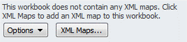 Screenshot depicting the XML maps button located on the bottom of the XML source window