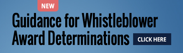 Guidance for Whistleblower Award Determinations button