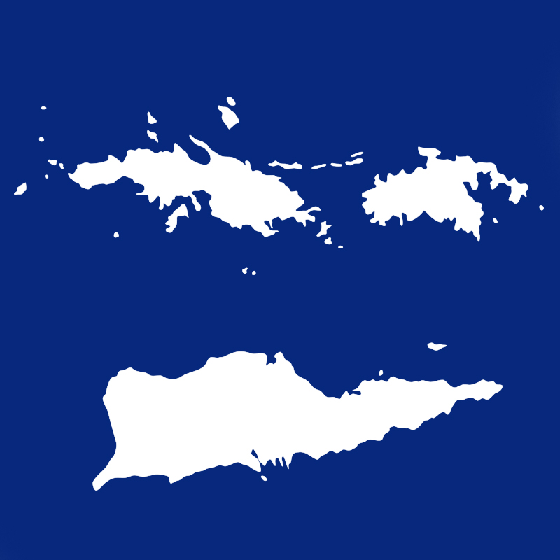 Map of U.S. Virgin Islands