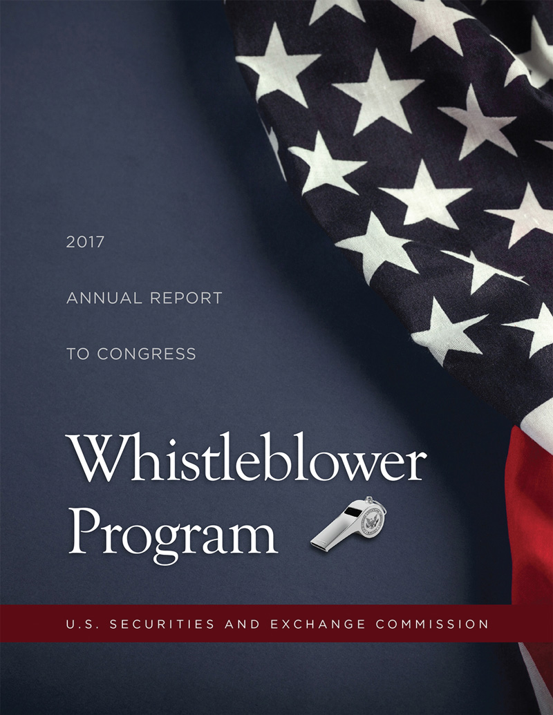 2017 Annual Report Whistleblower Program cover