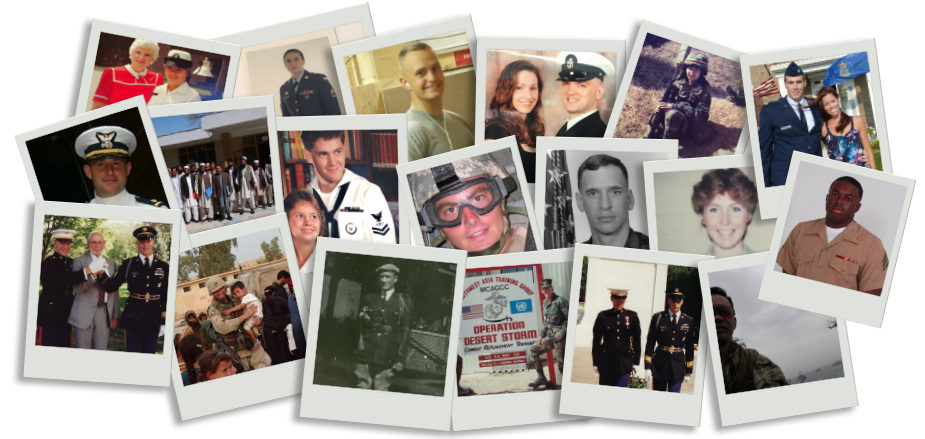 Veterans polaroid Collage