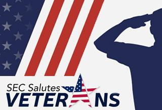 SEC Salutes Veterans feature graphic