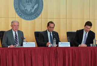 Elder justice council meeting panel with Attorney Jefferson Sessions, Honorable Alex Azar, and Jay Clayton