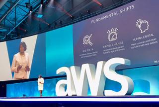 Pam Dyson at the AWS public sector summit