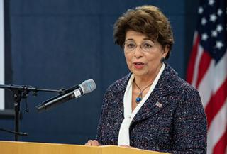 speaker U.S. Treasurer Jovita Carranza