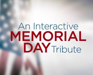 Memorial Day Tribute homepage graphic