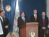 SEC Enforcement Director Robert Khuzami speaks at a news conference in New York City on Nov. 5, 2009.