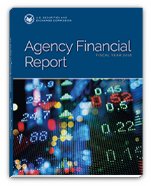 2016 Agency Financial Report cover