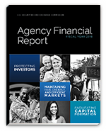 2018 Agency Financial Report cover