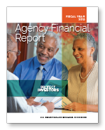 2019 Agency Financial Report cover