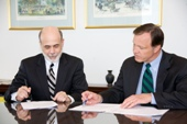 Fed Chairman Ben Bernanke and SEC Chairman Christopher Cox
