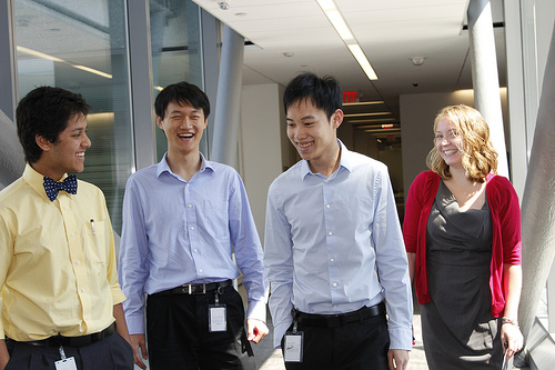 photo of SEC student interns