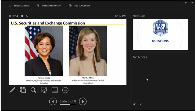 Virtual Coffee Break with the National Association of Securities Professionals linked graphic
