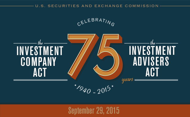 graphic banner for 75th Anniversary of the Passage of the Investment Company Act and the Investment Advisers Act