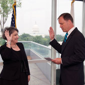 Elisse B. Walter is sworn in as a new SEC Commissioner